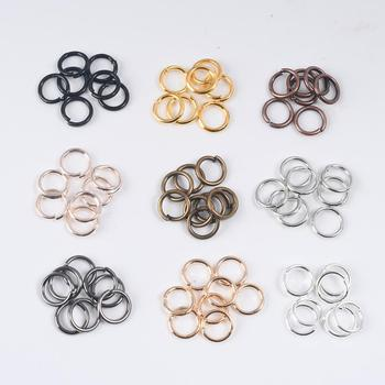 100-200Pcs 3-12mm Single Loop Open Jump Rings Diy Jewelry Making Accessories Split Connectors For Supplies - discount item  30% OFF Jewelry Making