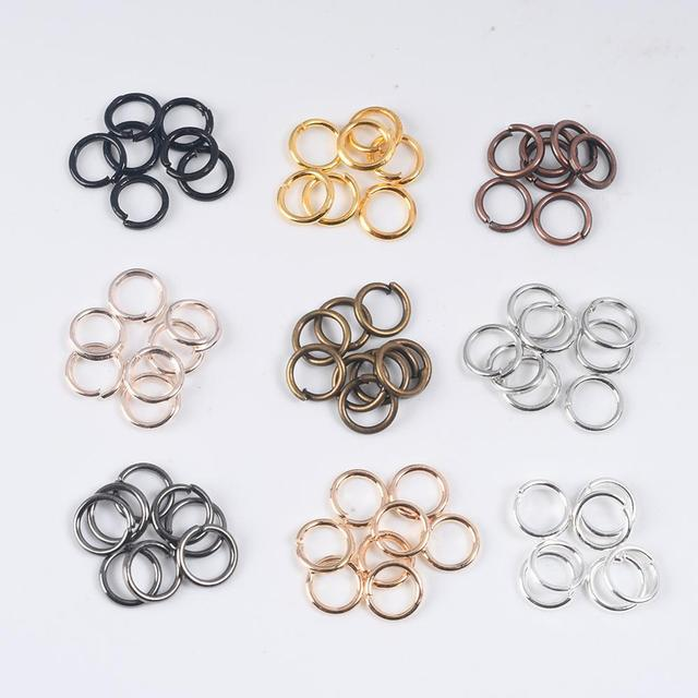 100-200Pcs 3-12mm Single Loop Open Jump Rings Diy Jewelry Making Accessories Split Rings Connectors For Jewelry Making Supplies