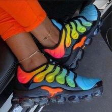 Tênis femininos 2020 plataforma plana sapatos femininos coloridos luz laço-up confortáveis tênis casuais sapatos de esportes de outono correndo