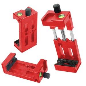 Image 3 - XJ 8 tripé do telefone suporte de cabeça montagem do tripé suporte do telefone móvel clipe para o telefone lanterna microfone com nível espírito