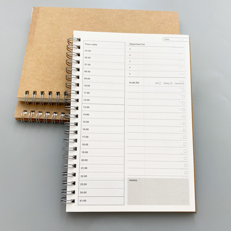 New Notebooks Agendas Planner Diary Weekly Spiral Organizer Libretas A5 Note Books Monthly Kraft Paper Schedule Filofa