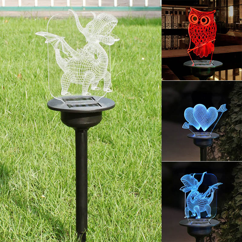 Solar Powered LED Light Transparent Acrylic Outdoor Garden Lawn Pathway Landscape Lamp LB88|Lawn Lamps| |  - title=