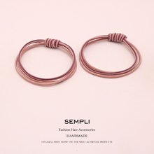 2 Pieces 4 Colors High Elastic Double Weave Hair Bands For Women Girls Band Handmade Kid Children Accesorios mujer