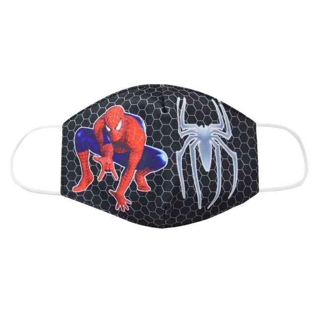 2020 Adult Kids Cotton Masks Spiderman Print Men Women Dustproof Earloop Face Mask Health Fashion Non-disposable Mouth Muffle 1