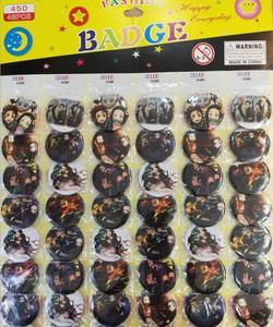 Новинка 48 шт./компл., японское аниме Demon Slayer: Kimetsu no Yaiba круглая брошка, пуговица, булавка 4,5 см, Детские вечерние подарки