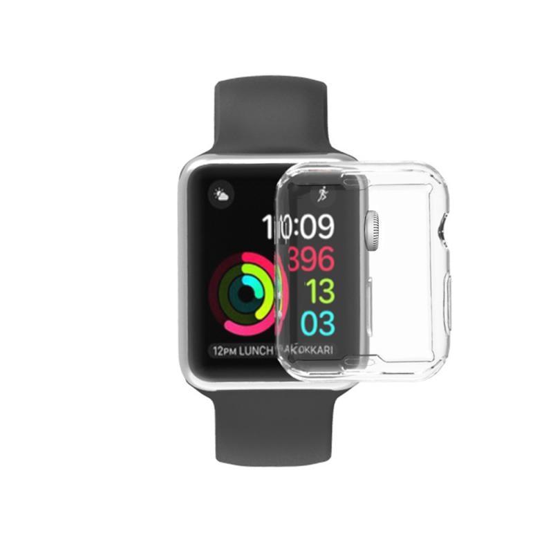 """38 מגן TPU Case עבור Apple Watch2 / 3/4 Anti-Drop ארה""""ב להגנת מעטפת מלאה Cover Case 38/40/42 / 44mm מגן אופציונלי (1)"""