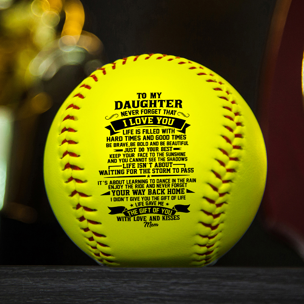 Mom To My Daughter Print id of the standard softball as a birthday Christmas present graduation Christmas gift.