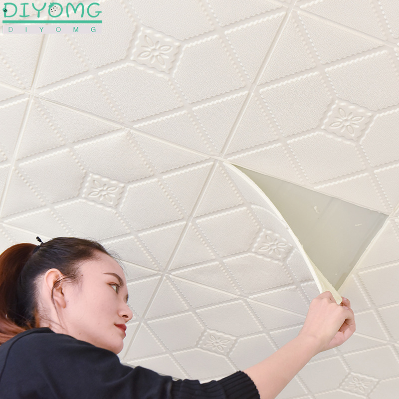 Roof Ceiling Wallpaper 3D Waterproof Self-adhesive Wall Contact Stickers Stereo Plafond Ceiling Wallpaper Background Roof Decor