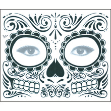 Временная татуировка наклейка s длительная маска для лица Водонепроницаемая одноразовая макияж татуировки наклейка для Хэллоуина вечерние V9-Drop