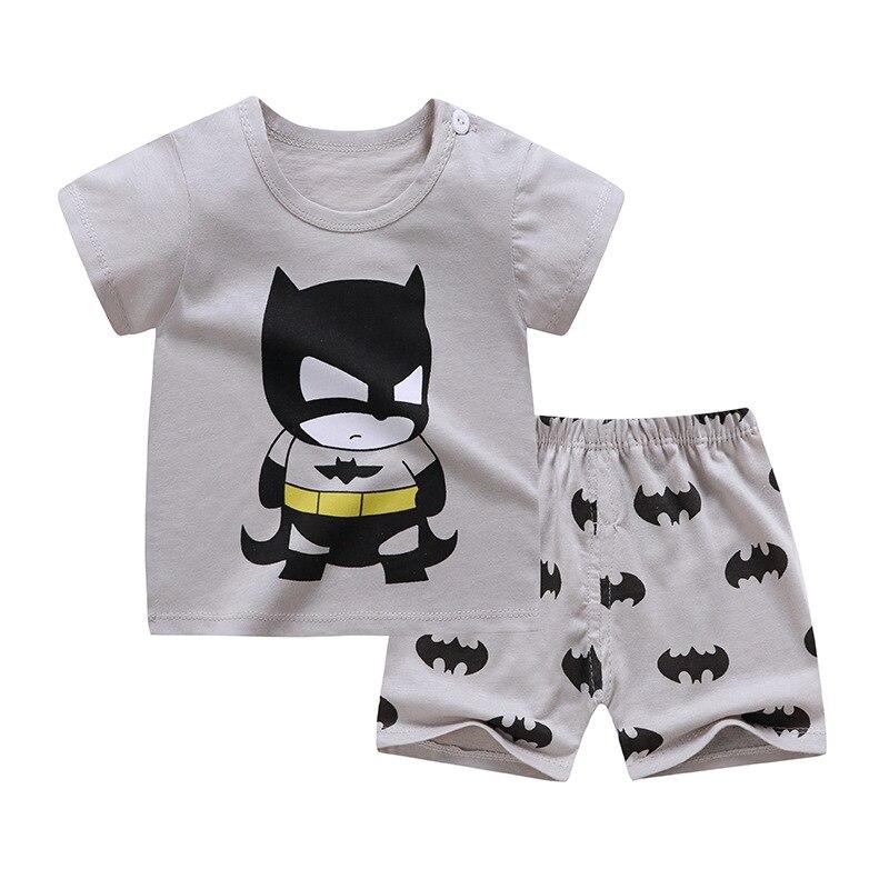 2020 çocuk giysileri yürüyor Boys karikatür kıyafetler bebek kız yaz Tees takım elbise 1 2 3 4 yıl çocuk giyim T-shirt + şort