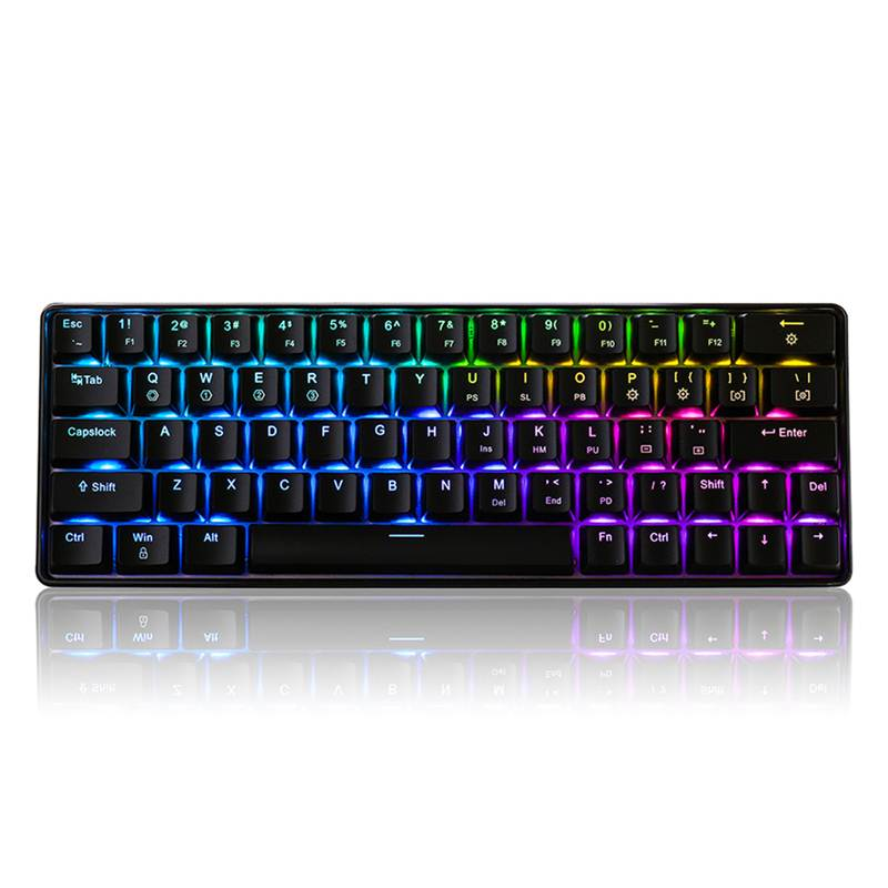 Geek GK64 64 Key Gateron Switch Mechanical Keyboard  Hot Swappable CIY Switch RGB Backlit Mechanical Gaming Keyboard For Desktop