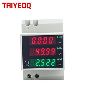 D52-2058 watomierz na szynę Din woltomierz współczynnik mocy miernik cyfrowy AC80-300V wielofunkcyjny miernik kwh Hz 0-100A tanie i dobre opinie DESDQCN Elektryczne 220 v 80A-99A 54*80*64 Jednofazowy Cyfrowy tylko -20-60 0-99999 1 + - two words AC0-100A 0 2VA