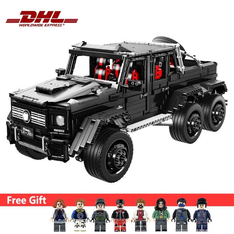 Technic MOC série 6X6 grand SUV voiture modèle tout-terrain véhicule 3300 pièces blocs de construction enfant cadeau de noël