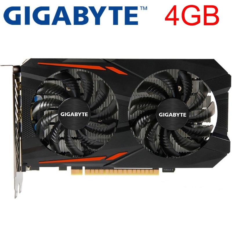 Placa gráfica gigabyte gtx1050 ti 4 gb 128bit gddr5 original usado placas de vídeo para nvidia placas vga geforce gtx 1050 ti 750 960