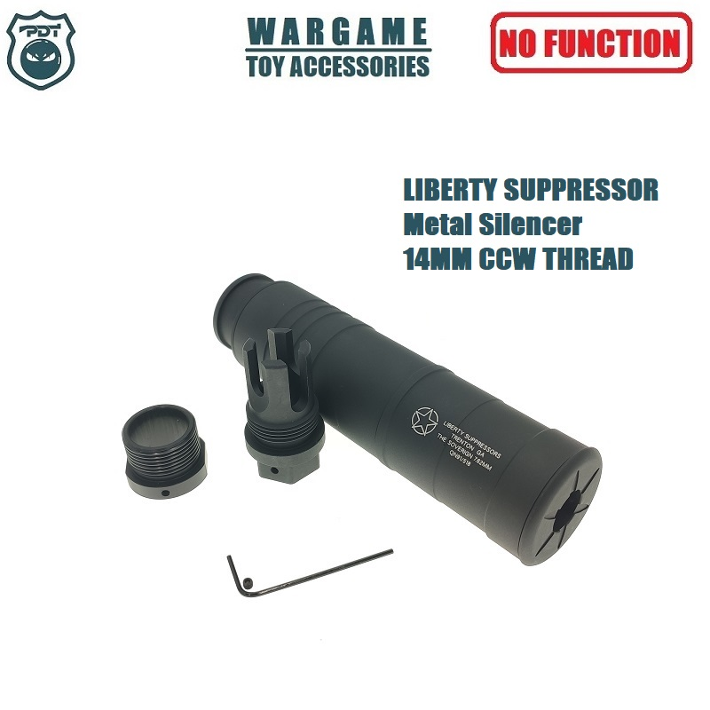 14MM CCW Thread Metal LIBERTY Suppressor Sovereign For Toy Gel Ball Blaster Airsoft AEG GBB