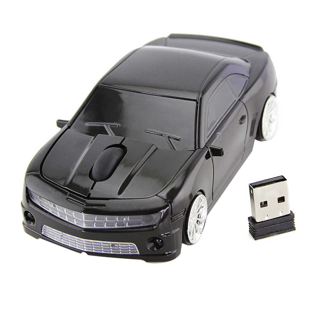 ماوس USB استقبال مكتب كمبيوتر محمول 2.4GHz الكمبيوتر كول المنزل البلاستيك الألعاب المصغرة 3 مفاتيح شكل السيارة البصرية اللاسلكية