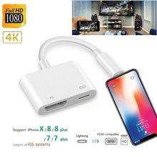 Iluminação besioni para iphone a hdmi-adaptador de áudio compatível para ipad av conversor de adaptador para iphone x/11/8p/6s/7p/ipad ar