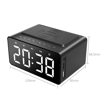Fast Wireless Charger Phone Wireless Charging Pad Thermometer LED Alarm Clock Bluetooth Speaker Fast Charger For Iphone Samsung 4