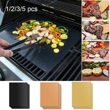 2020New 3 colores Ptfe antiadherente BBQ Grill Pad barbacoa hornear Pad reutilizable Teflon placa de cocina 40*33cm para parrilla para fiestas Mat Tools