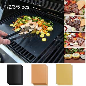 Bbq-Grill-Pad Tools Cooking-Plate Ptfe Non-Stick Reusable Teflon for Mat 40--33cm 3color