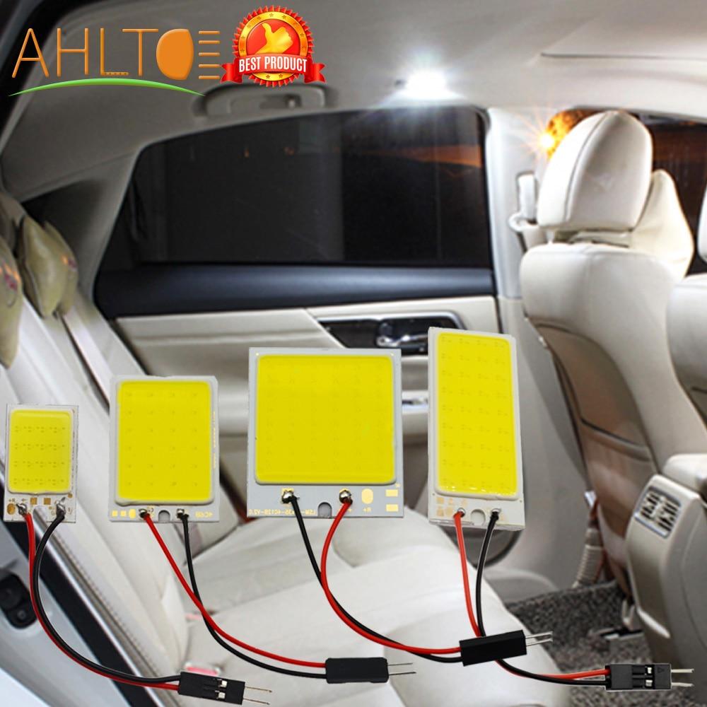 1pcs Car Reading Led T10 Cob W5W C5W 16 24 36 48 Led 7Colors Options Lamp Ceiling Light Dome Lamp BA9S 3 Adapter DC 12V