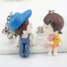 New Arrival Women Keyring Cute Resin Doll Packbag Pendant Keychain Fashion Accessories Jewelry Animal Shape Car Key Key Chain