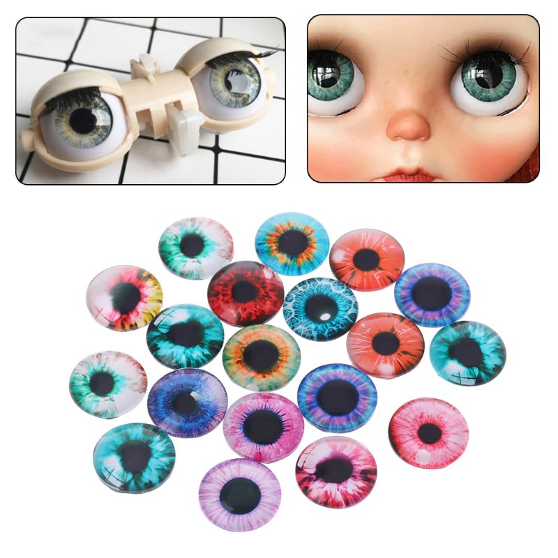 20Pcs Glass Doll Eyes Animal DIY Crafts Eyeballs For Dinosaur Eye Accessories Jewelry Making Handmade 8/12/18mm 95AE