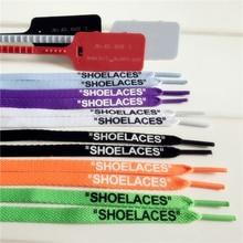 """Ruiyi печать """"шнурки"""" черный белый оранжевый зеленый синий OW подписанные шнурки для выключения обуви овальные плоские шнурки"""