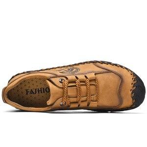 Image 4 - أحذية من الجلد حذاء رجالي جودة انقسام الجلود حذاء كاجوال الأخفاف حذاء رجالي جلد حجم 36 48