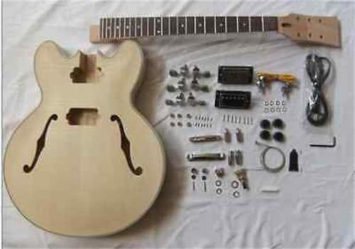 New Electric Guitar Semi-finished Unassembled Kits,ES-335 Electric Guitar