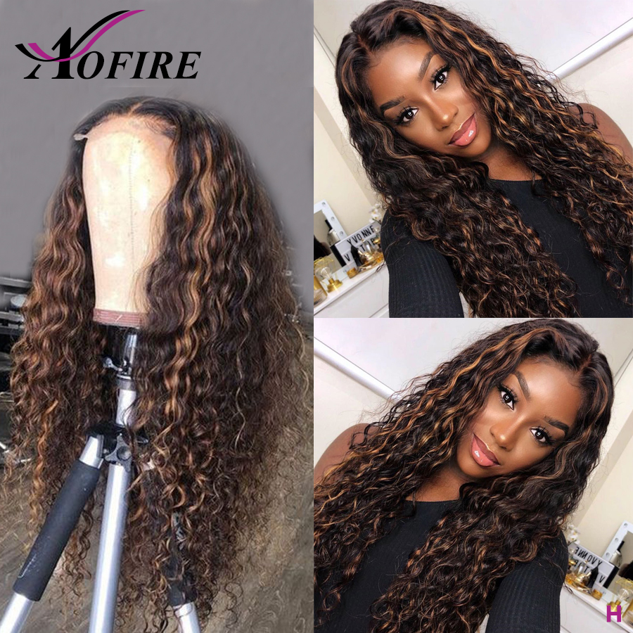 Highlight Honey Blonde Lace Front Wig Lace Front Human Hair Wigs For Women Brazilian Remy Deep Wave Wig 13x6 Lace Front Wig 130%