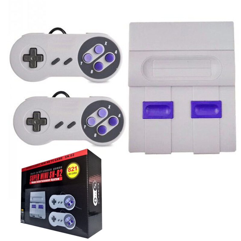 High Definition Video Games SUPER Mini Games SNES 8-bit S FC Games Built-in 821 Games Classic Red and White  Video Game Console