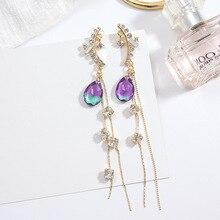 2019 New Korean Fashionable Temperament Long Tasseled Earrings, Elegant Pearls Slender Eardrops Women Jewelry