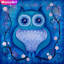 MomoArt Diamond Embroidery owl cartoon Painting animal Mosaic Full Drill Square Home Decor Accessories