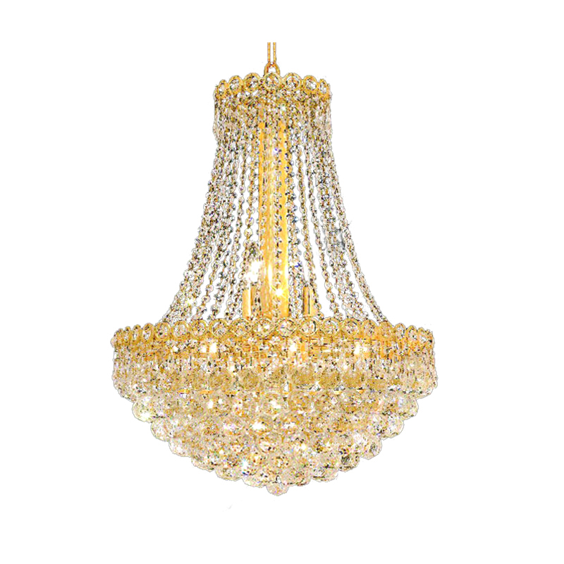 Us 299 39 9 Off Phube Lighting French Empire Gold Crystal Chandelier Chrome Chandeliers Lighting Modern Chandeliers Light Free Shipping In