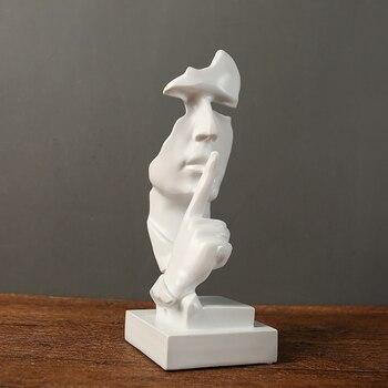 Новая смола тишина маска статуя абстрактные статуэтки не сказать не видеть не услышать маска скульптура для офиса винтажный домашний декор