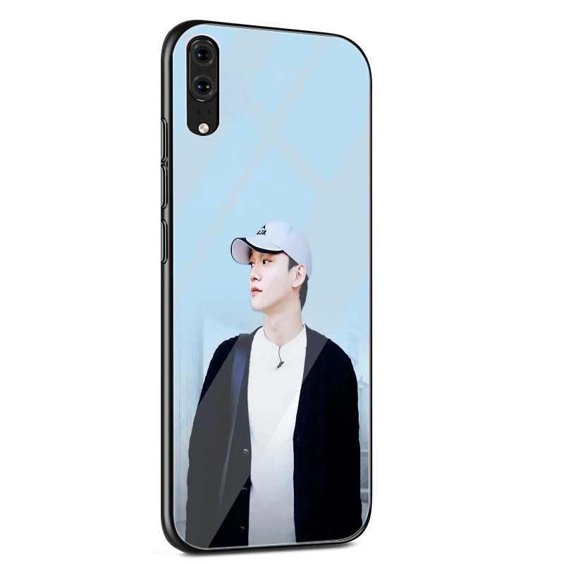 Funda de vidrio para teléfono móvil para Xiaomi mi 8 9 Lite A1 A2 Red mi Note 5 6 7 Pro 6A 4X 5X 6X teléfono móvil F1 cubierta EXO Chen genial