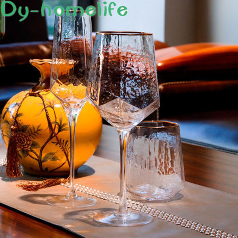 Multi-style Nordic Phnom Penh Colorful Water Ripple Glass Wine Glass Creative Restaurant Home Tall Whiskey Vodka Cocktail Glass image