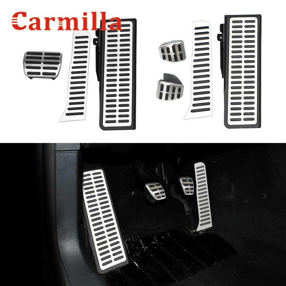 Carmilla Stainless Steel LHD Car Pedals Fit for Volkswagen Vw Golf 5 Mk5 Golf 6 Mk6 Golf5 Golf6 2003 - 2013 Auto Pedal Cover