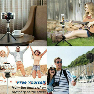 Image 4 - Nieuwe Verbeterde 4 In 1 Draadloze Bluetooth Selfie Stok Universele Uitschuifbare Statief Met Remote Shutter DU55