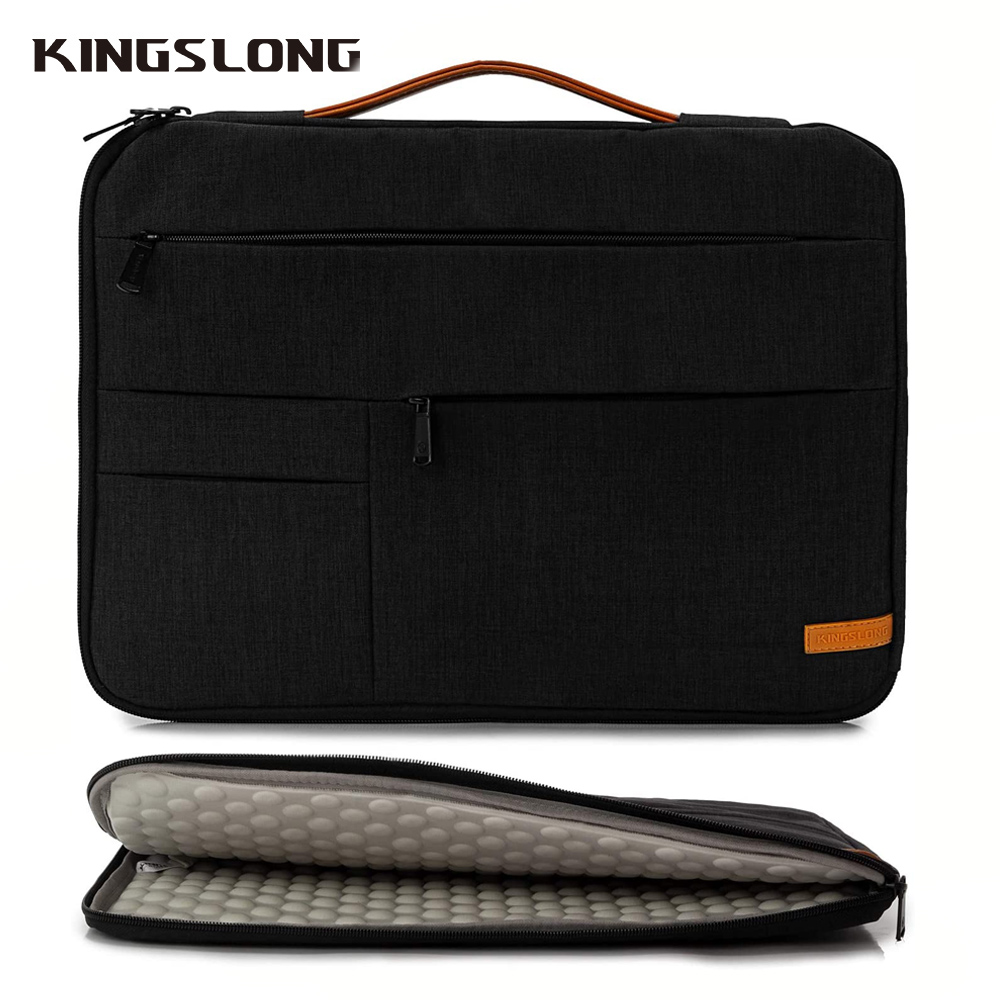 KIingslong 15 Inch Laptop Sleeve For ASUS Lenovo XiaoMi HuaWei Day Clutches 15 Inch Laptop Case  Business Laptop Cover Bag Black