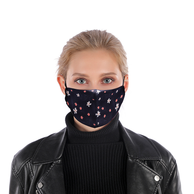 Flower Facial Reusable Mouth Mask Washable Protective PM2.5 Filter Mask Anti Dust Face Mask Windproof Mouth-muffle Anti Flu Mask 2
