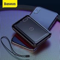 Baseus 10 w sem fio power bank 10000mah carga rápida 3.0 + pd3.0 powerbank carregamento sem fio carregador de bateria externa para xiaomi