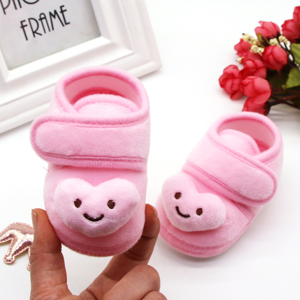 Infant Newborn Baby Kid Girl Plush Stars Cloud Winter Boots Soft Sole Warm Shoes