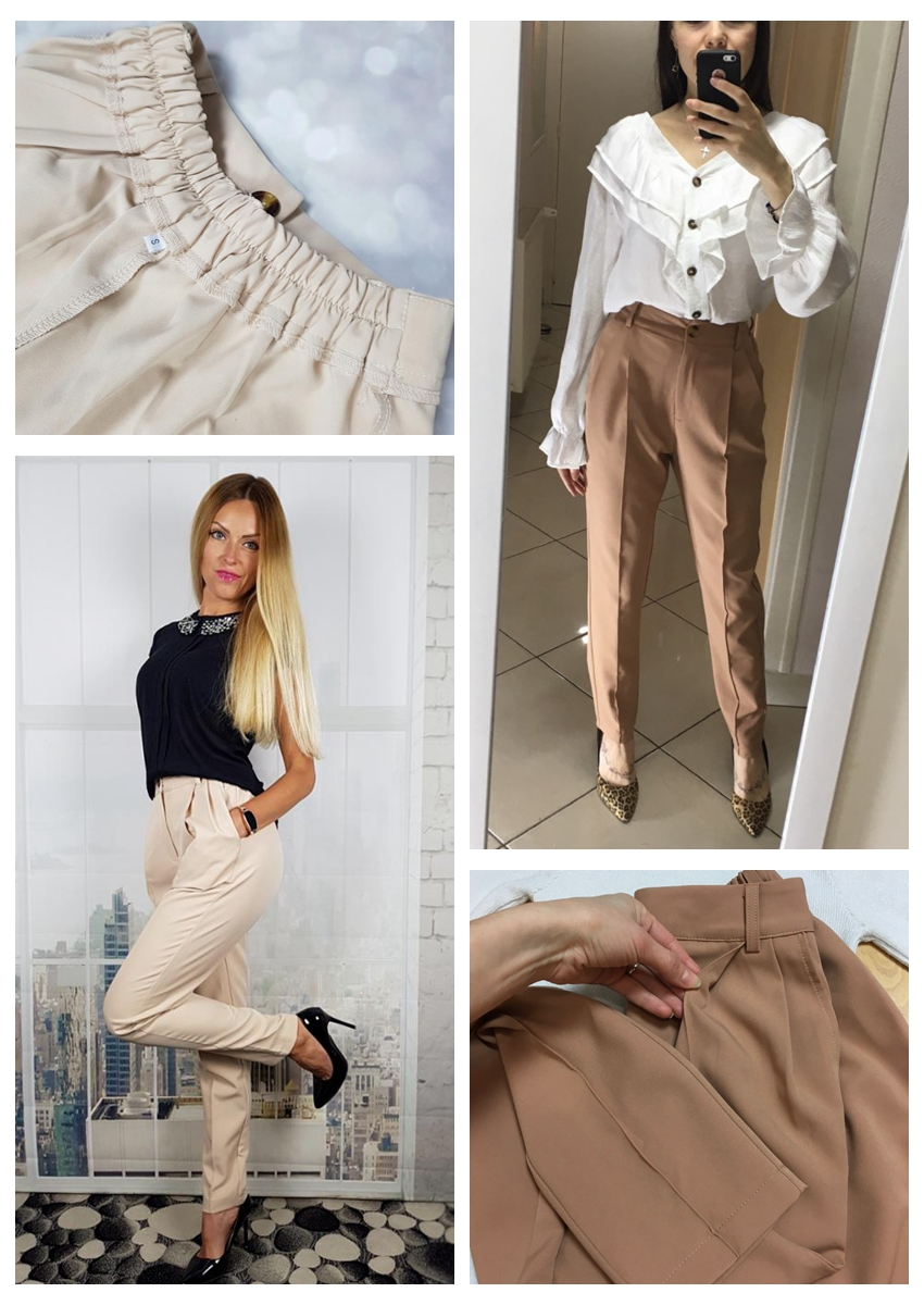 H63d116136da6407cb764b991e5b0c3a0a - OOTN Casual High Waist Khaki Pants Women Summer Spring Brown Ladies Office Trousers Zipper Pocket Solid Female Pencil Pants