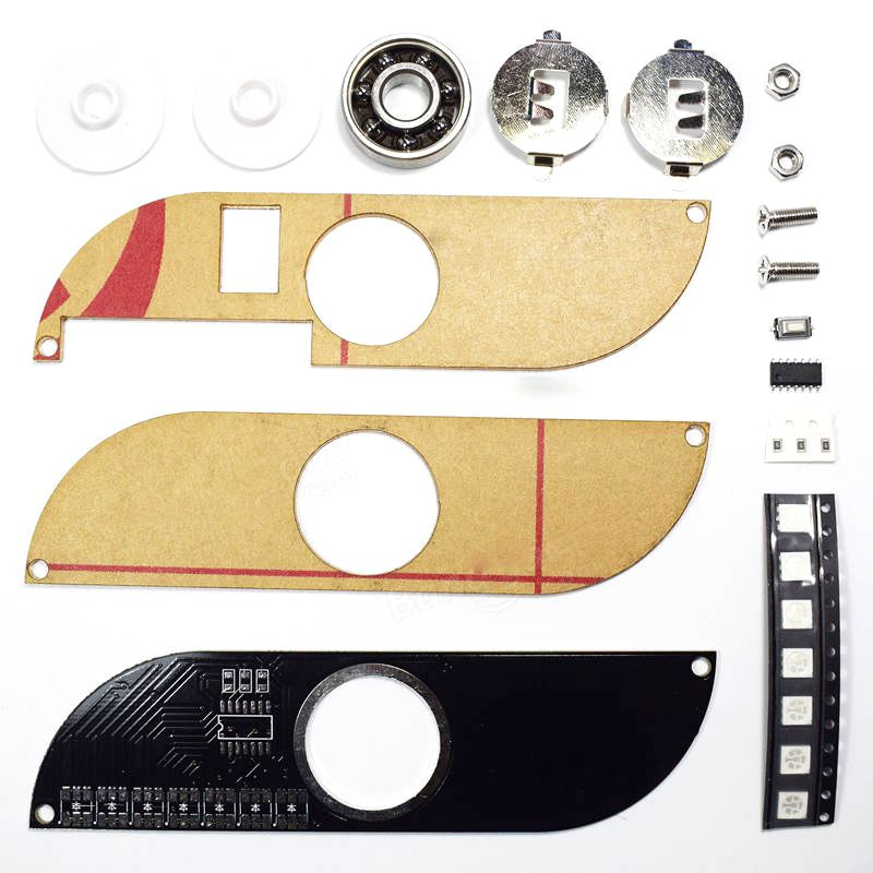 Hot-DIY Full Color Rotating POV LED Electronic Kit 5050 RGB LED Rotating Fidget Hand Spinner