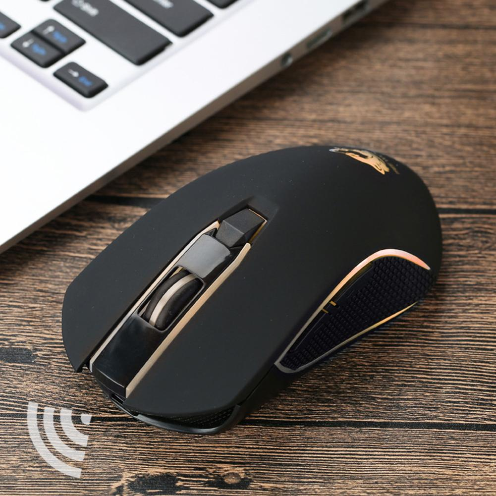 X9 Ergonomic Rechargeable Wireless Silent LED Backlit USB Optical Gaming Mouse Portable Computer Peripherals