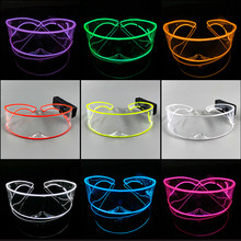 10 Colors Flashing Glasses Light up LED Glasses for Glowing Party Supplies Bright Light Neon Transparent Glasses Glow Sunglasses
