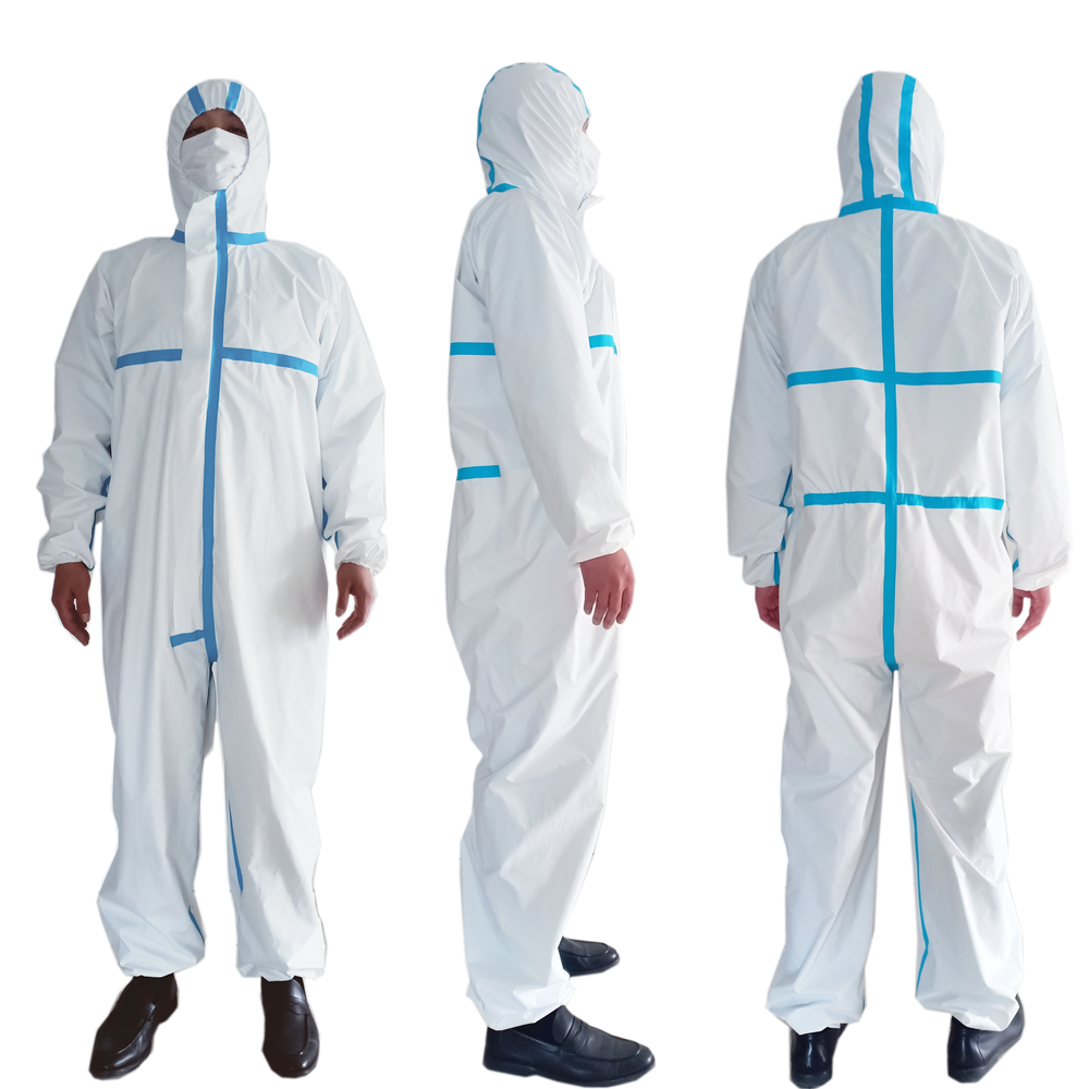 Coverall Disposable Anti Epidemic and Antibacterial Isolation Suit for Prevention from Viruses and Bacteria