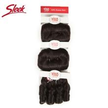 Гладкие волосы для наращивания, цвет 2, коричневые пряди, Remy, бразильские волосы, волнистые пряди, Glam, короткие, 3 шт., кудрявые, Remy, человеческие волосы для наращивания